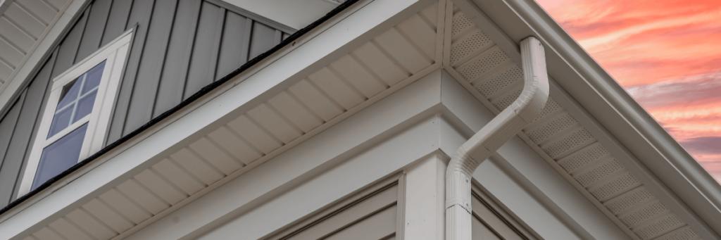 White frame gutter guard system